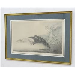 "Louis Icart Lithograph, ""Speed"""
