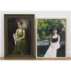 Chris Ford, Two Female Portraits