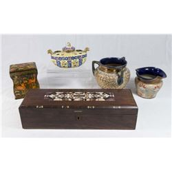 Group Lot of Porcelain & Boxes
