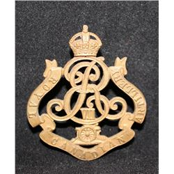 B1. Royal Canadian Artillery, Edward VII, Cap Badge.