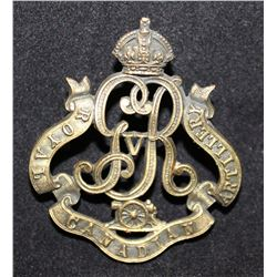 B2. Royal Canadian Artillery Cap Badge