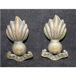 B3. Royal Canadian Artillery Collar badge pair