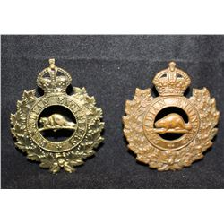 B7. Canadian Engineers Cap Badge Lot