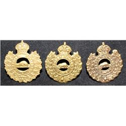 B8. Canadian Engineers Collar Badge Lot