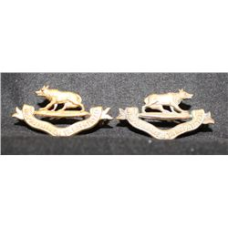 B33. 32nd Manitoba Hosre Collar badge pair