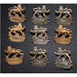 B35. 6th Duke of Connaught's, Royal Canadian Hussars Collar badge lot