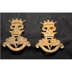 B38. V Princess Louise Dragoon Guards Collar badge lot