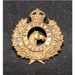 B39. 4th Hussars Collar badge