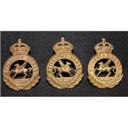 B40. 27th (Saskatchewan) Light Horse Cap/Collar set