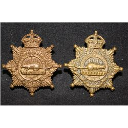 B45. 30th British Columbia Horse Collar badge pair