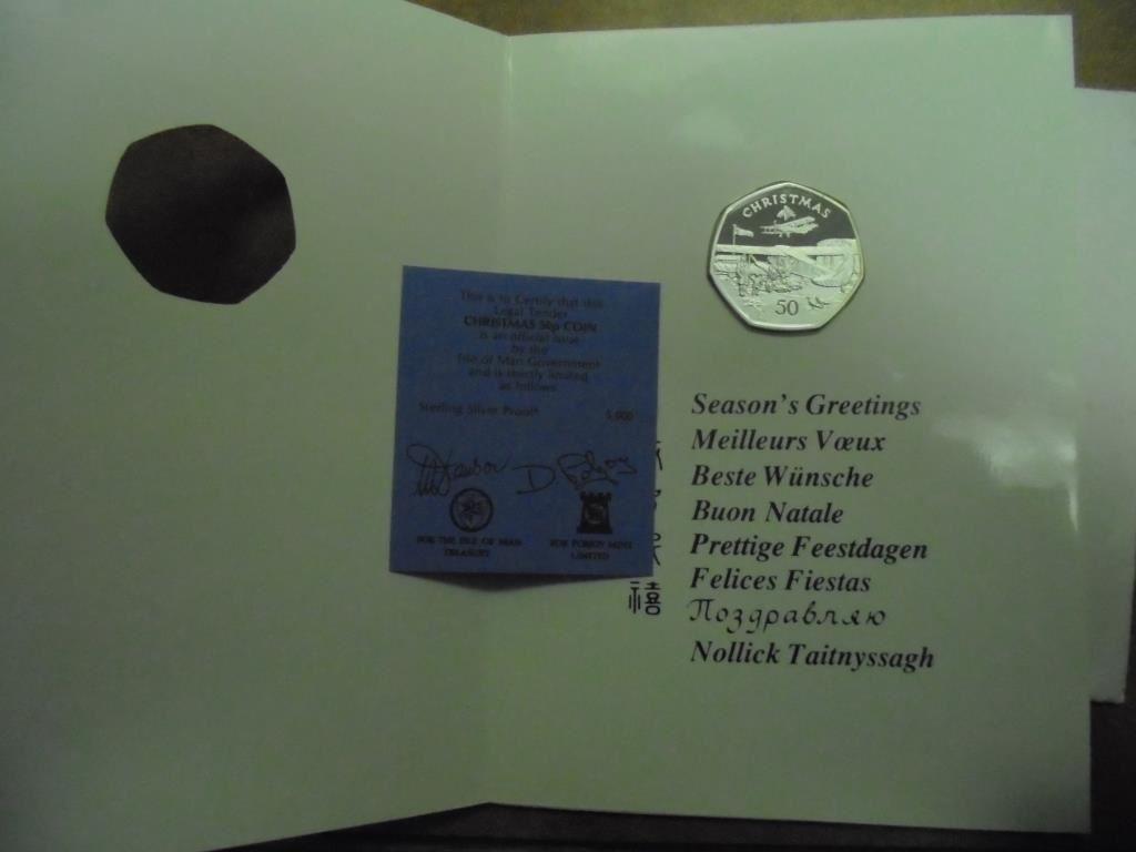 1985 Isle Of Man Silver Proof 6th Xmas Double Crown Xmas