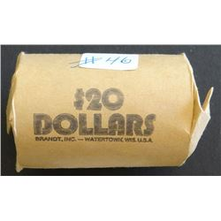 Roll silver dollars, Peace and Morgan, 3 x 21-P, 2 x 22-S, 25-S, 28-S, 4 x 22-P, 1887-O, 3 X 21-O, 2
