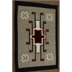 Navajo weaving, storm pattern rug, 70 inches x  45 inches. In good condition.