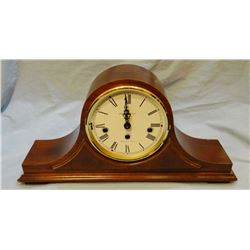 Howard Miller camel back clock w/ Westminster chime, 8 day movement, needs glass