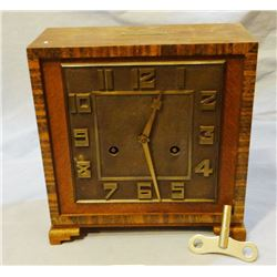 "H.A.C. square clock, German, 8 day movement, dated 1931, 4"" x 8"" x 8"""