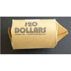 Morgan and Peace dollars, 1 roll: 5 x 21-P, 3 x 22-P, 1884-O, 2 x 23-S, 25-P, 1900-O, 1882-P, 3 x 22