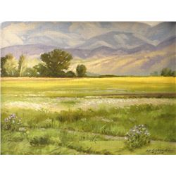 Robert Morgan, original oil, Herrin Ranch, NWR 1983,