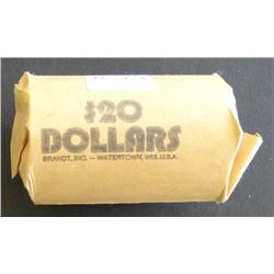 Morgan and peace silver dollars, 1 roll including: 3 x 21-D, 2 x 23-D, 2 x 26-S, 23-S, 25-P, 4 x 22-
