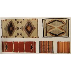 2 Pendleton blankets, 2 Navajo rugs & 1 Mexican rug. Navajo designs include banded Indian design and