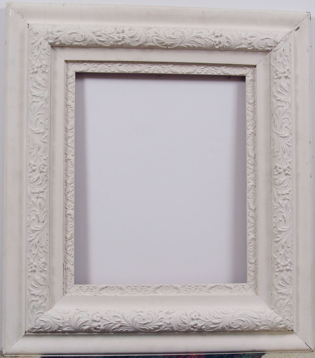 Large Antique Shabby Chic Wood Frame 24x28 Painted