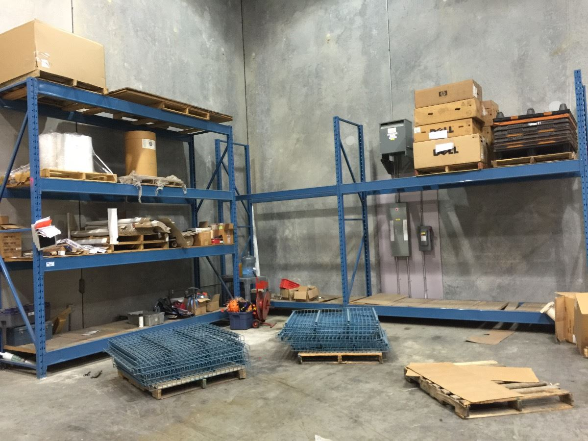 3 bays of blue mastorak 12 39 tall warehouse racking able for 3 bays