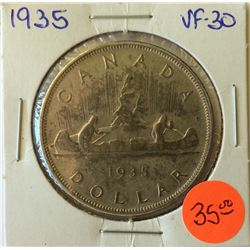 1 dollar 1935 in VF-30.