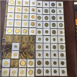 World coins binder; containing 168 coins of France. Including Centimes and francs see pictures
