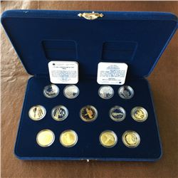 RCM; Silver set of 12 provincial quarter 1992 Proof with Parliament dollar in case.