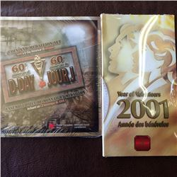 RCM; 2001 10 cents Year of Volunteers unopened & 2004 5 cent 60th Anniversary of D-Day unopened. Lot