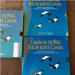 RCM; 50 cents 1995 set of 4 Canada on the wing, first set of 4 x 50 cents with animal theme in origi