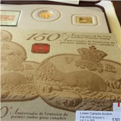 RCM; 2001 3 cents with Stamp set and Medallion in case.