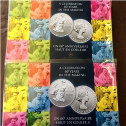 RCM; 2012 $20 for $20 A Celebration 60 Years in the Making. Lot of 2 coins.