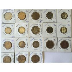 World lot: France, five and 10 francs from 1980 to 1993 containing 18 coins total.