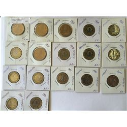 World lot: France, five and 10 francs from 1980 to 1992 containing 17 coins total.