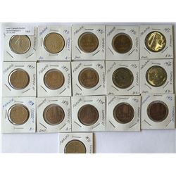 World lot: France, five and 10 francs from 1970 to 1976 containing 16 coins total.
