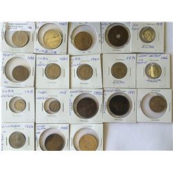 World lot: mix of coins from different country somes silver see picture from 1891 to 1960, containin