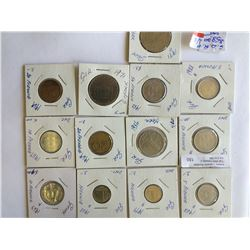 World lot: Germany 1 to 50 pfenning and 5 Mark from 1956 to 1988, containing 13 coins total
