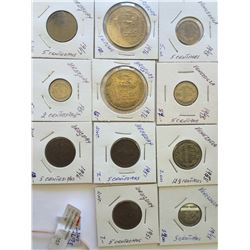 worlds lot: Uruguay and Venezuela, from 1946 to 1976, containing 11 coins total.