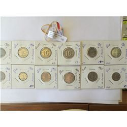 World lot: Germany 1 -5 and 10 pfenning from 1956 to 1988, containing 12 coins total