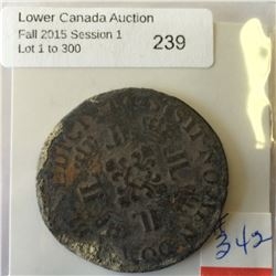 France; 1 Ecu 1725  Silver from the shipwreck (The Chameau)
