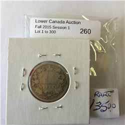 25 cents canada 1889 About Good, key date