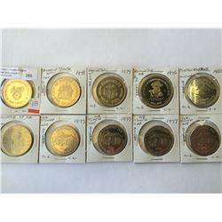 token lot of  canada; greenmore jail, x 4, Edmonton  ab x 2, port aux Basques, city of Barry, Albert