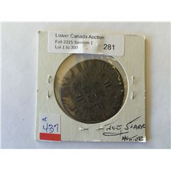"""France; 1 ecu 1725 H from the shipwreck """"The Chameau""""."""