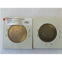 NFLD 50 cents 1872H and 1882H G/VG. Lot of 2 coins.