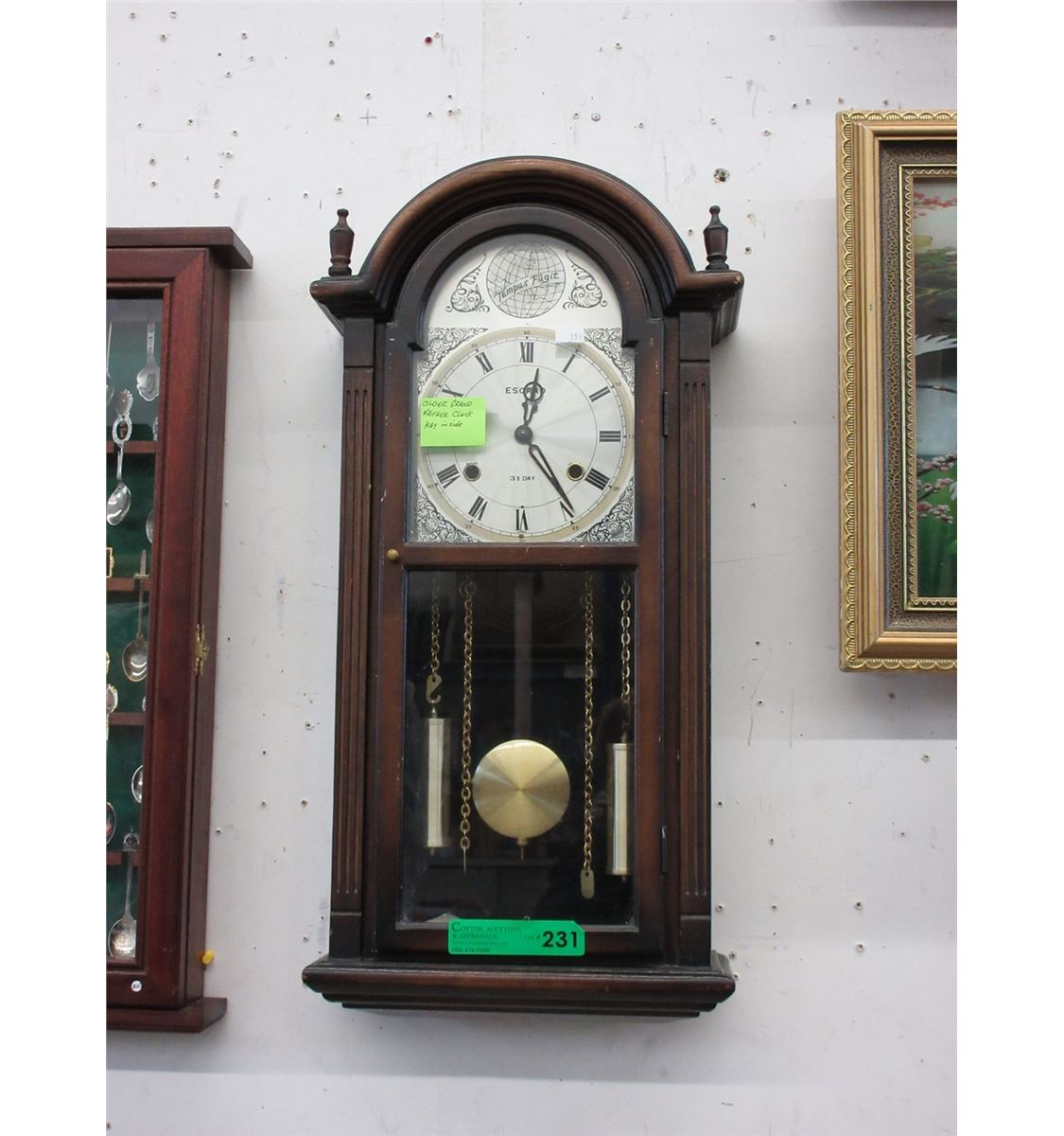 Esgrad 31 day wall clock used amipublicfo Image collections