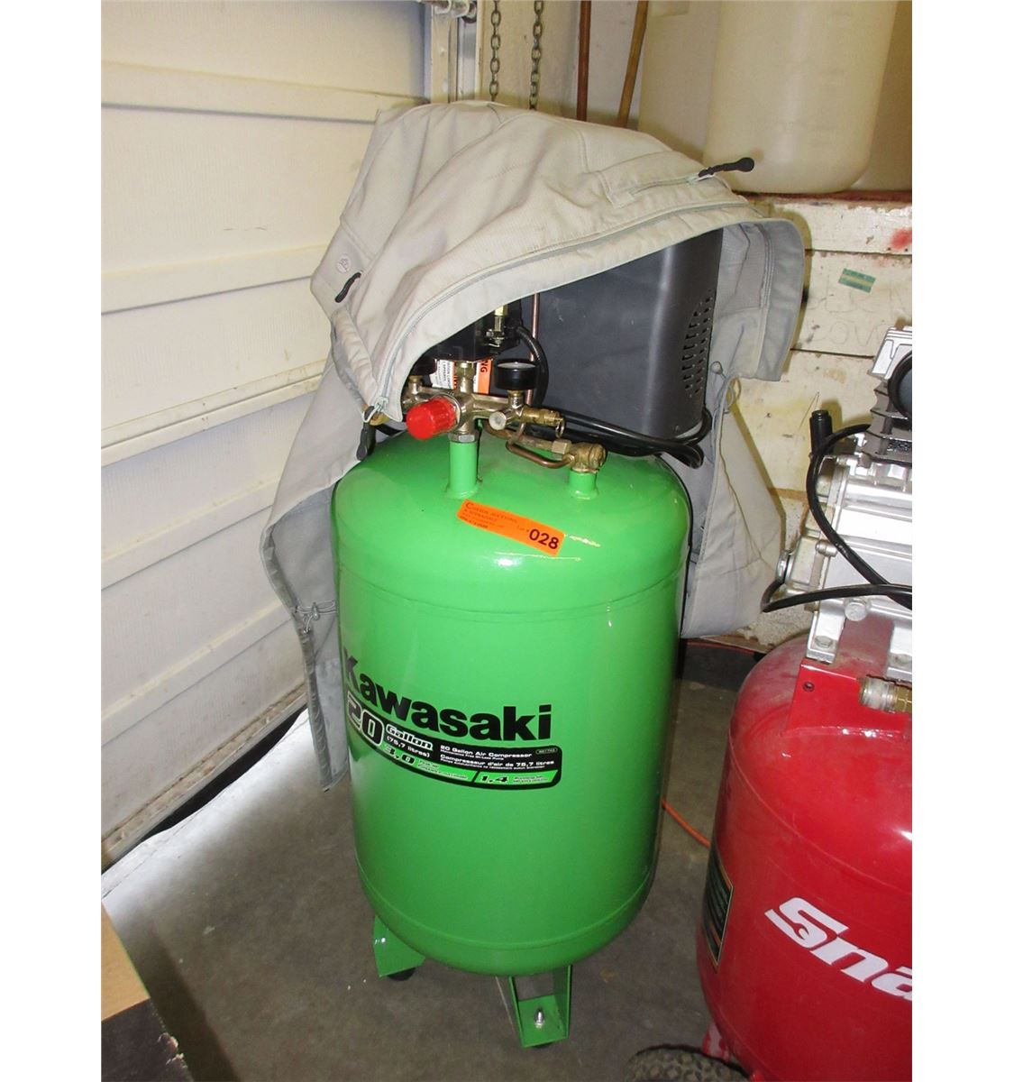 Used Kawasaki 20 Gallon air compressor