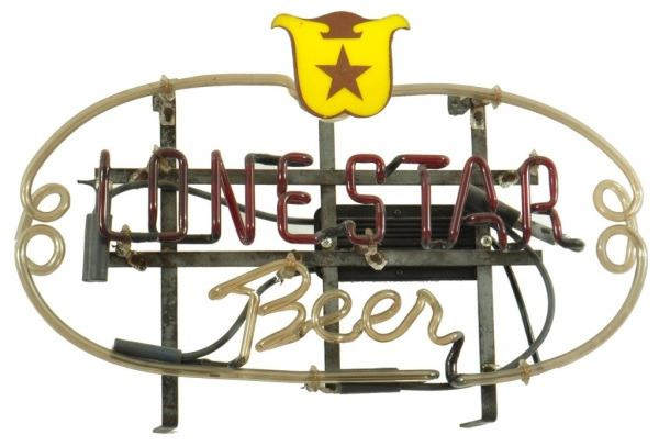 Early Lone Star Beer Neon Sign