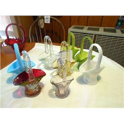 Collection of glass baskets
