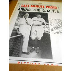 "Babe Ruth ""Last Minute Photo"""