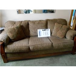 3 CUSHION MICRO FIBER SUEDE SOFA